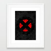 xmen Framed Art Prints featuring XMen by sambeawesome