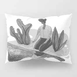 Woman with Paper Boat by The Riverside Pillow Sham