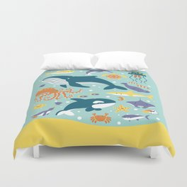 Sea Animals Duvet Cover