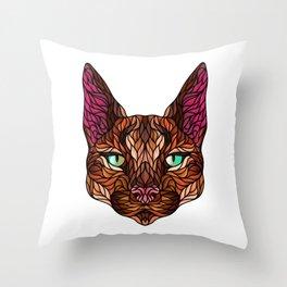 CARACAL WILD CAT Throw Pillow