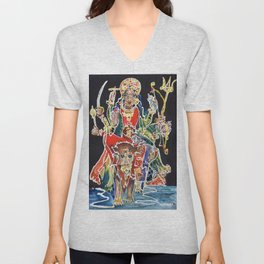 Goddess Durga Unisex V-Neck