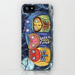 Dia de Muertos Owl Party iPhone Case