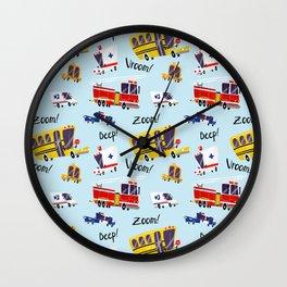 Crazy Cars Wall Clock