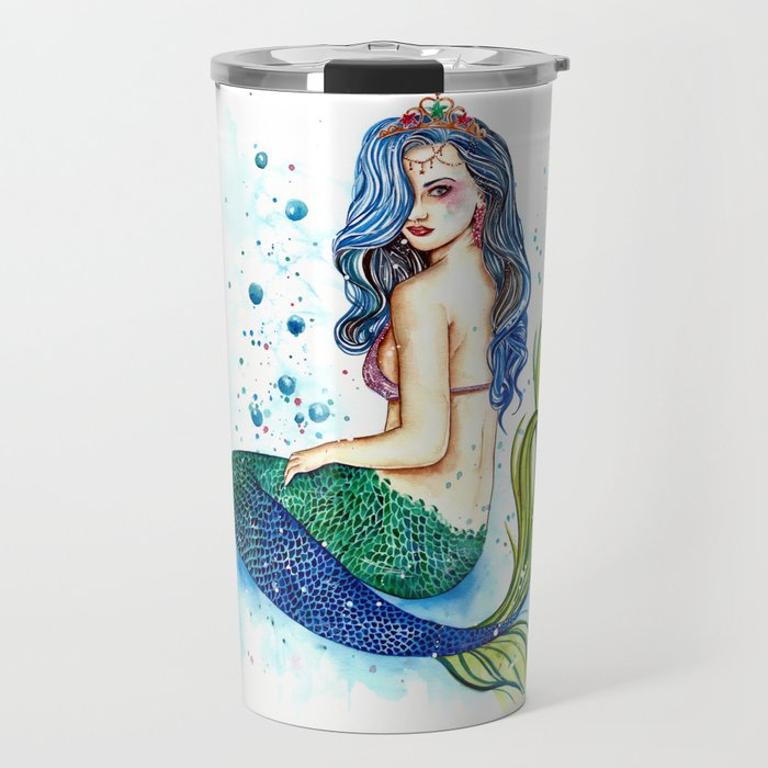 Mermaid Princess Travel Mug