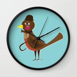 Dapper Mr. Robin Wall Clock