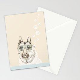 Diver Dog Stationery Cards
