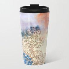 Wild Rose 6 Metal Travel Mug