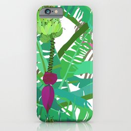 Banana Jungle in White iPhone Case