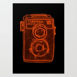 Blue Camera Art Print