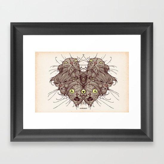 Wet Cats Framed Art Print