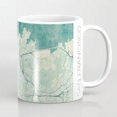 San Francisco Map Blue Vintage  Mug