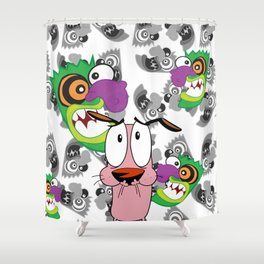 Ooga Booga Courage the Cowardly Dog  Shower Curtain