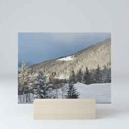 Mountain view Mini Art Print