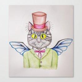 Top Hat Tom Cat Canvas Print