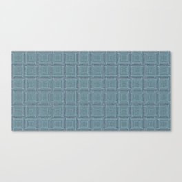 blue stitched background Canvas Print