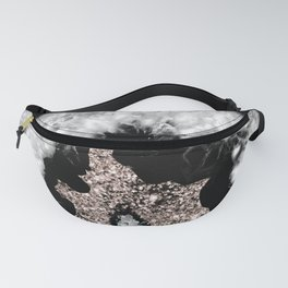 Gray Black White Agate Glitter Glamor #5 #gem #decor #art #society6 Fanny Pack