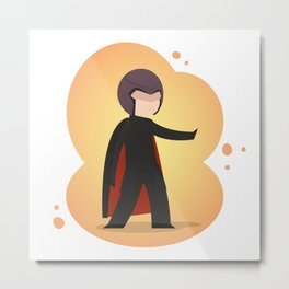 The most magnetic of the X-men: Little Magneto Metal Print