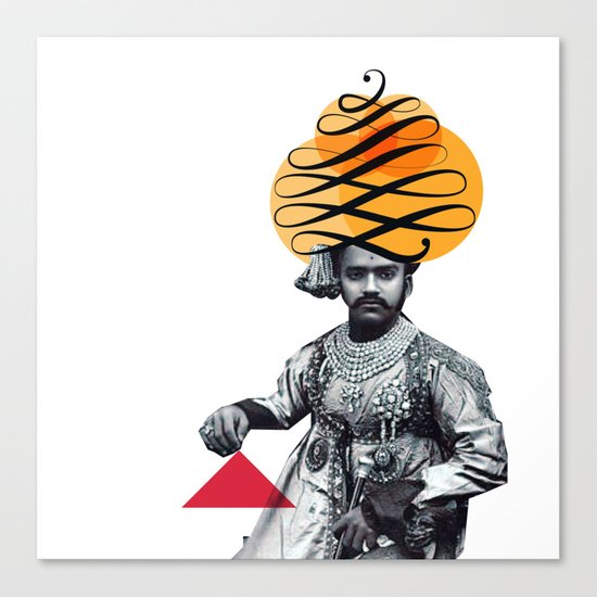 Lettering is a Maharaja's turban Canvas Print