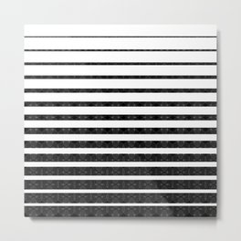 Spirograph on stripes - 1 Metal Print