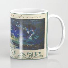 Vintage poster - Waitomo Caves Coffee Mug
