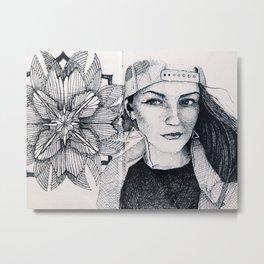 Nati sketch Metal Print