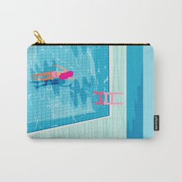 In Deep - memphis throwback swimming athlete palm springs resort vacation country club infinity pool Carry-All Pouch