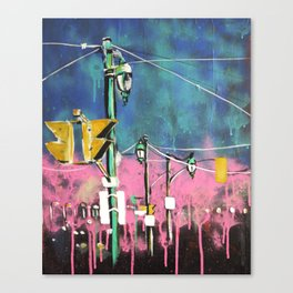 Traffic lights of Toronto Canvas Print