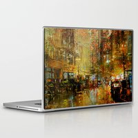 detroit Laptop & iPad Skins featuring An evening in Detroit by Ganech joe