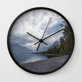Tranquility at Lake McDonald Wall Clock