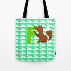 f for fox Tote Bag