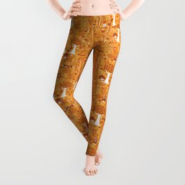 Foxes in a Forest of Fall Trees Leggings