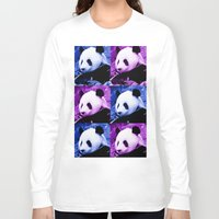 pandas Long Sleeve T-shirts featuring Pandas by SwanniePhotoArt