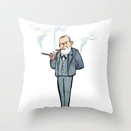 Sigmund Freud Throw Pillow