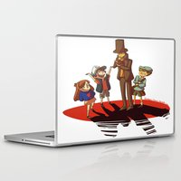 gravity falls Laptop & iPad Skins featuring Layton in Gravity Falls by stubbornpotato