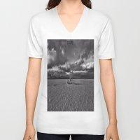 explore V-neck T-shirts featuring Explore by Dan99
