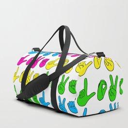 Love Signs (bright) Duffle Bag