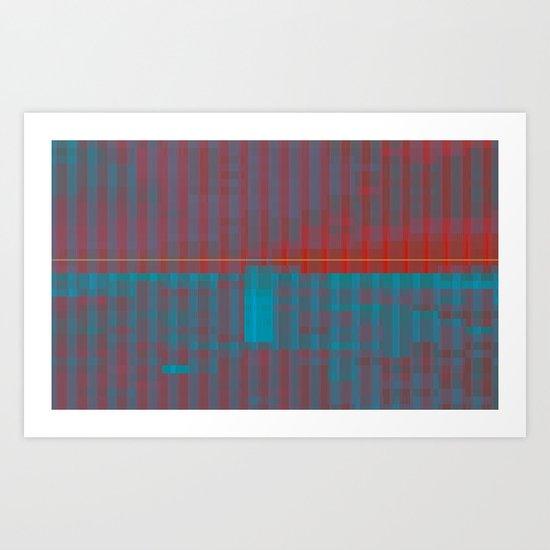 glitchscape Art Print