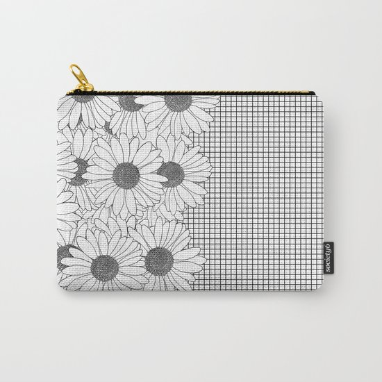 Daisy Grid on Side Carry-All Pouch