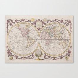 World Map 1782 Canvas Print
