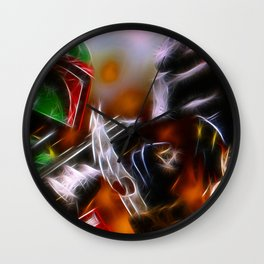 Boba Fett Vs Predator - Doc Braham - All Rights Reserved Wall Clock
