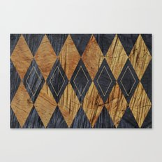Wood cut abstraction Canvas Print