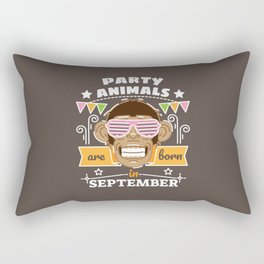 Party Animals are Born in September Rectangular Pillow