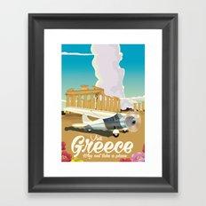 Visit Greece, Go by plane! Framed Art Print