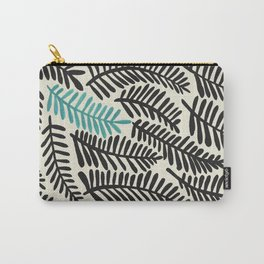Black Fronds Carry-All Pouch