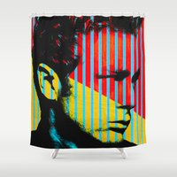 actor Shower Curtains featuring Idols - James B Dean by Fernando Vieira