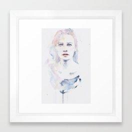 pale color Framed Art Print