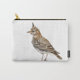 Galerida cristata, Crested lark traditional artwork Carry-All Pouch