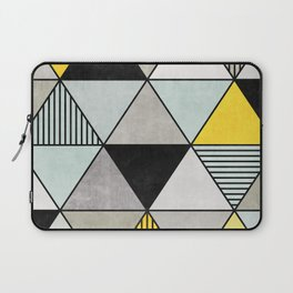 Colorful Concrete Triangles 2 - Yellow, Blue, Grey Laptop Sleeve