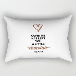 Cupid Me Valentine's Day Chocolate Heart Rectangular Pillow