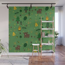 forest bears Wall Mural